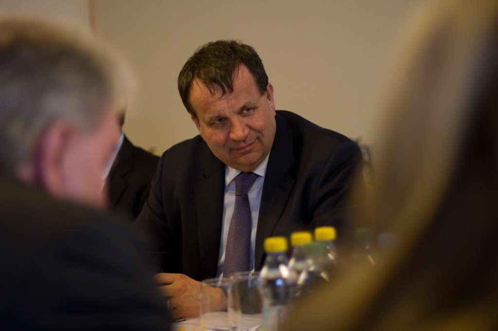 Ministr průmyslu a obchodu Jan Mládek (ČSSD).
