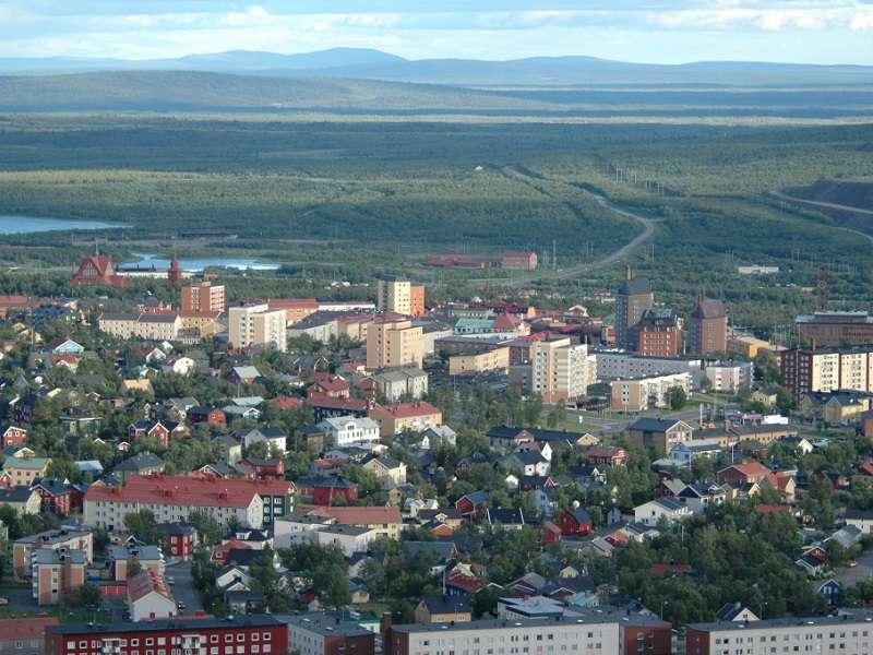 Kiruna leží 145 kilometrů severně od severního polárního kruhu. Foto: de.wikipedia.org