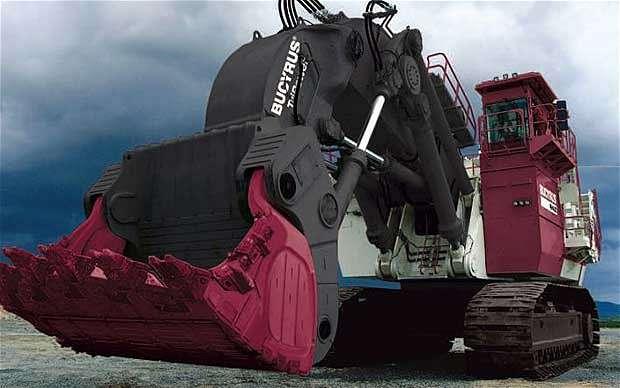 Největší hydraulický bagr na světě