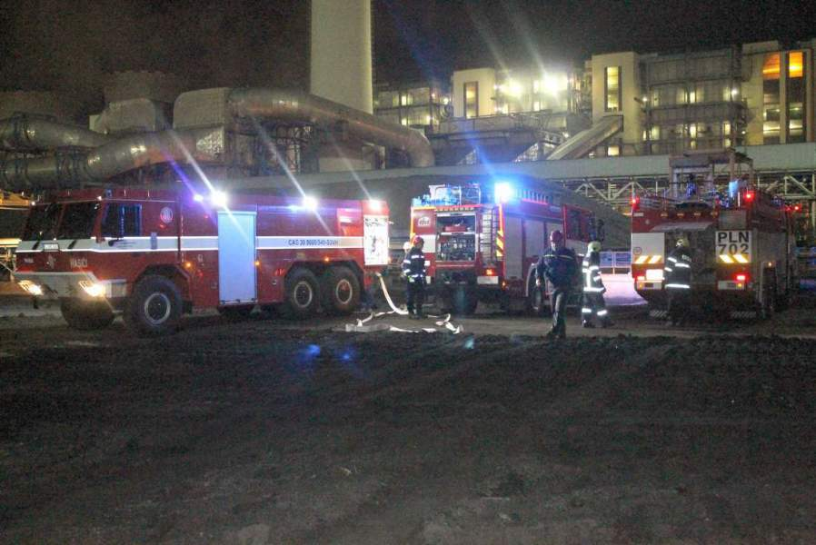 V Elektrárně Počerady hořelo, naštěstí cvičně