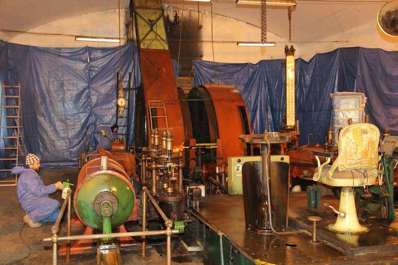 Podkrušnohorské muzeum opravilo parní těžní stroj