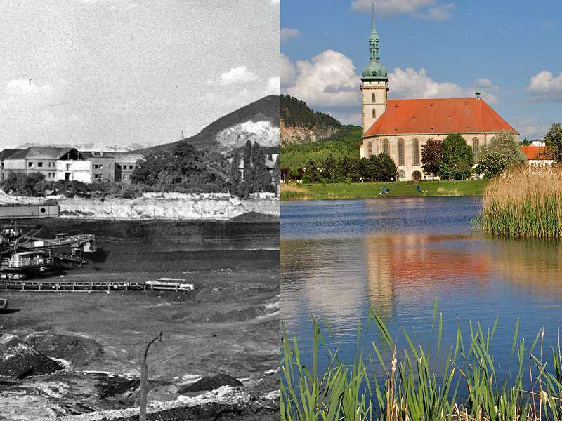 Štýs kostel lom Most