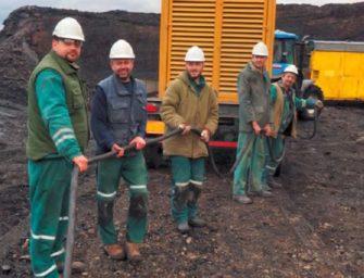 Elektrikáři z uhelného lomu Důl Bílina