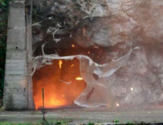 Při ukázkách výbuchů bylo ticho jako v kostele