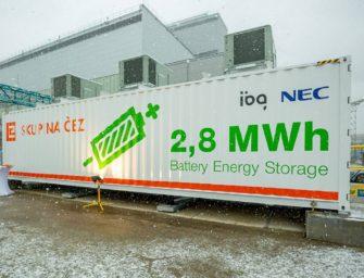 Největší bateriový systém v Česku vydrží 45 minut