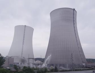 V Německu tajně odstřelili věže elektrárny
